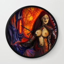 Domination queen Wall Clock