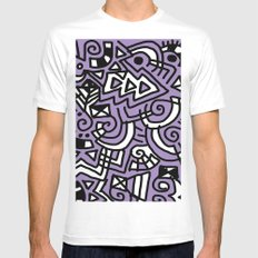The Purple Doodle MEDIUM White Mens Fitted Tee