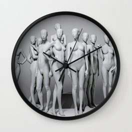 The Real Mannequin Challenge Wall Clock