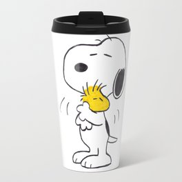 hug Peanuts Snoopy Travel Mug