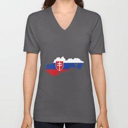 Love Slovakia Gift Slovakians Pride Heart Unisex V-Neck
