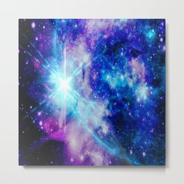 galaxy Nebula Star Metal Print