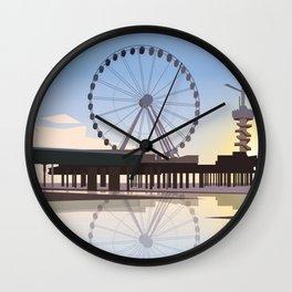 Scheveningen Beach Wall Clock
