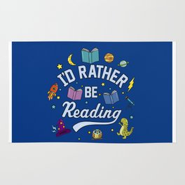 I'd Rather Be Reading Science And Magic Edition Rug