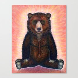 Blissed Out Bear Canvas Print