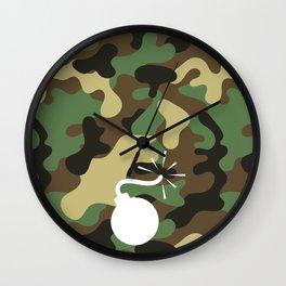 CAMO & WHITE BOMB DIGGITY Wall Clock