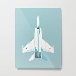 MiG-25 Foxbat Interceptor Jet Aircraft - Sky Metal Print