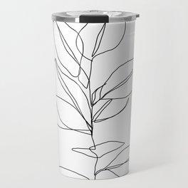 One line plant illustration - Dany Travel Mug