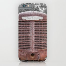 McCormick-Deering Rusted Grill Rusty Farmall Tractor Front End iPhone Case