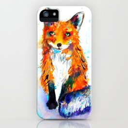 Little Fox in the Snow iPhone Case