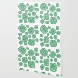 Green Cushion Gem Pattern Wallpaper