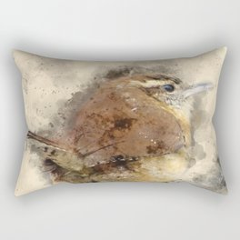 Carolina Wren Rectangular Pillow