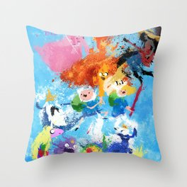 Battle Time!! - compilation Throw Pillow