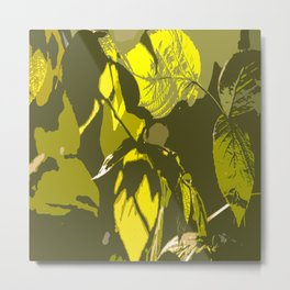 Autumn leaves bathing in sunlight #decor #society6 Metal Print