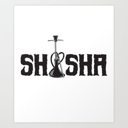 Shisha water pipe shisha bubbling tobacco Art Print