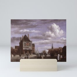 Jacob van Ruisdael - The Dam Square in Amsterdam with the Weigh House Mini Art Print