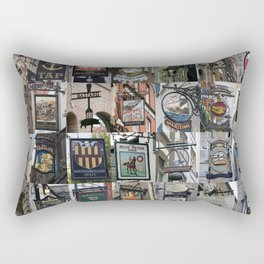 Pub Signs Montage Rectangular Pillow
