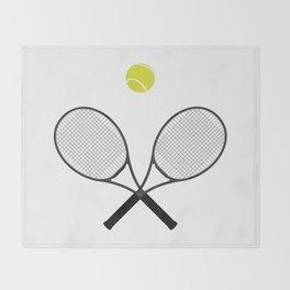 Tennis Racket And Ball 2 Throw Blanket