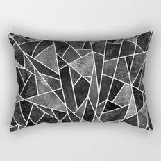 Shattered Black Rectangular Pillow