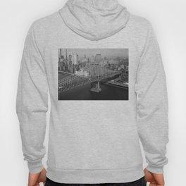 Manhattan Bridge Black and White Photograph Hoody