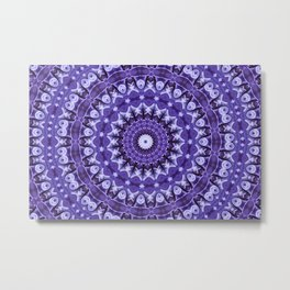 Kaleidoscope Purple Silk Metal Print