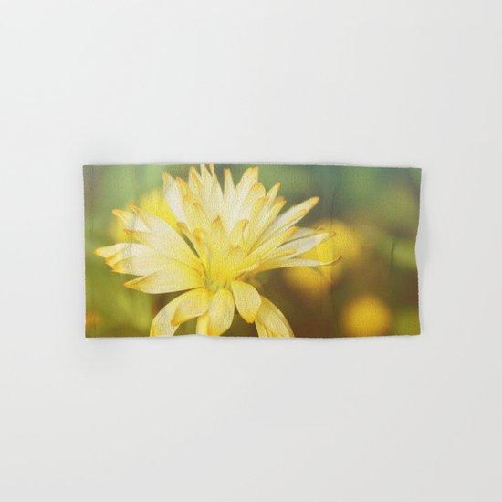 Dreamy yellow wild flower Hand & Bath Towel