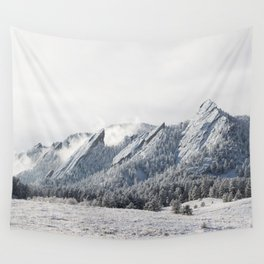 Frosty Flatirons Wall Tapestry