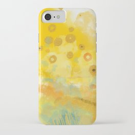 Abstract autumn with gold and warm light iPhone Case