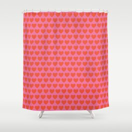 Patterned Hearts Shower Curtain