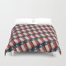 Vintage Texas flag pattern Duvet Cover