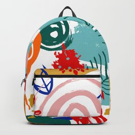 Spring Festival, Botanical, Floral Abstract Backpack