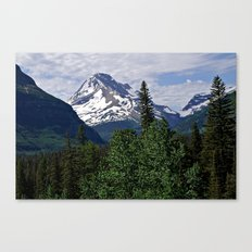 Glacier National Park Mountain and Sky Canvas Print