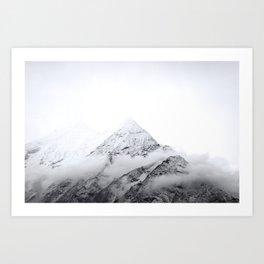 Snowy Mountain Tops // Himalayas // Nepal Art Print