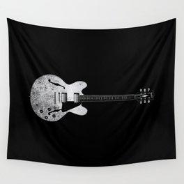 Jazz Guitar Wall Tapestry