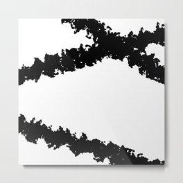 Black and White Line Drawing Minimalism Art no.4 Metal Print