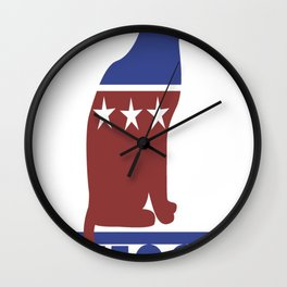 Democat democrat cat Wall Clock