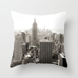 Static Empire Throw Pillow