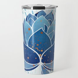 Indigo Lotus Blossom Travel Mug