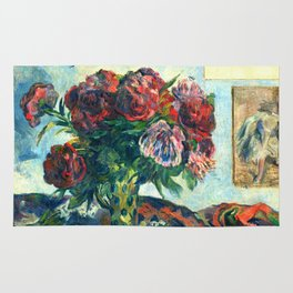 "Paul Gauguin ""Les Pivoines"" Rug"