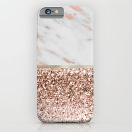 Warm chromatic - rose gold marble iPhone Case