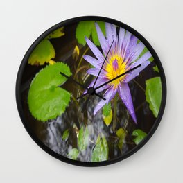 Enchanting Lotus Wall Clock