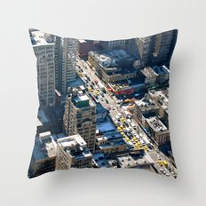 New York Life Throw Pillow