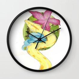 Albino Boa Constrictor Wall Clock