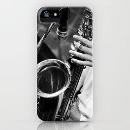 Jazz and Saxophone iPhone Case
