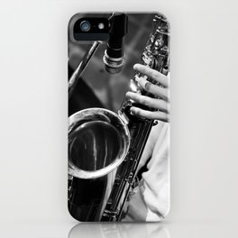 Jazz and Saxophone iPhone Case