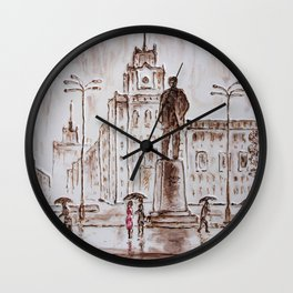 meeting in red Wall Clock