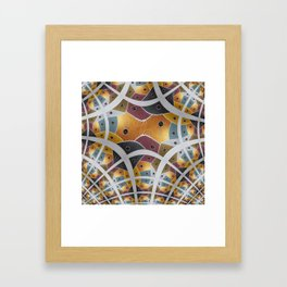 """Fractal of the Painting """" Seven Areas """" Framed Art Print"""