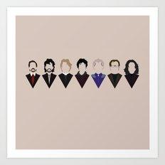 7 Alan Rickmans Art Print