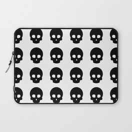 White Out Skullz Laptop Sleeve