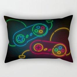 Neon Nostalgia Rectangular Pillow